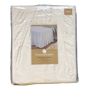 DreamScape King Ruffled Solid Ivory Bedskirt 16""